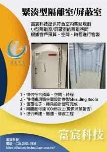Read more about the article 緊湊型電波隔離室/電波屏蔽室/shielding room